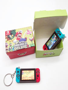 Game-Console Keychain Keyring Rubber Charm The-Switch Mario-Game Wholesale Fashion