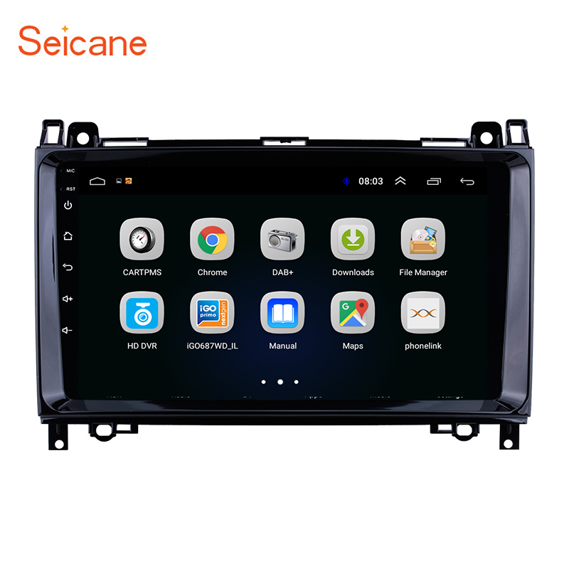 Seicane Android 8.1 Car Multimedia Player GPS Auto Stereo For <font><b>Mercedes</b></font> <font><b>Benz</b></font> B W245 B150/Sprinter <font><b>211</b></font> CDI 309/ A Class W169 A150 image