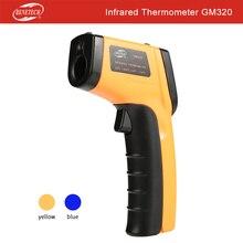 Лазерный ЖК-цифровой инфракрасный термометр измеритель температуры пистолет бесконтактный термометр Benetech GM320