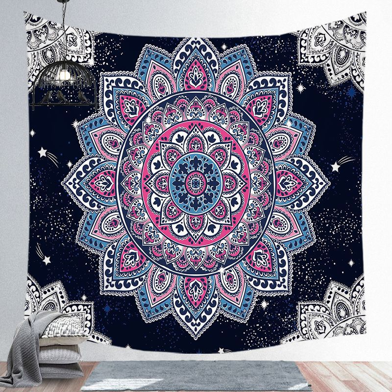 Mandala Painted Tapestry Macrame Wall Hanging Tapestries Wall Carpet Witchcraft Blue Purple Multicolor Full Frame Home Ornaments