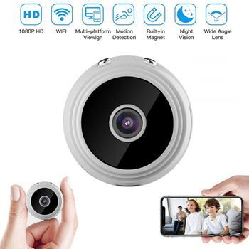 1 PC Mini 1080P WiFi IP Camera Motion Detection Night Vision Remote Monitor With Bracket Wireless Camera Mini Camera Camcorders 1