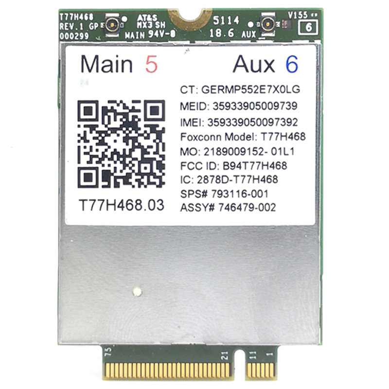 4G Module LT4211 T77H468 GOBI5000 LTE EV DO HSPA WWAN Card SPS 793116 001 for HP