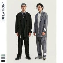 인플레이션 2020 남성 패션 정장 Hight Street 트렌디 럭셔리 남성 블레이저 고품질 루스핏 남성 정장 가을 남성 의상
