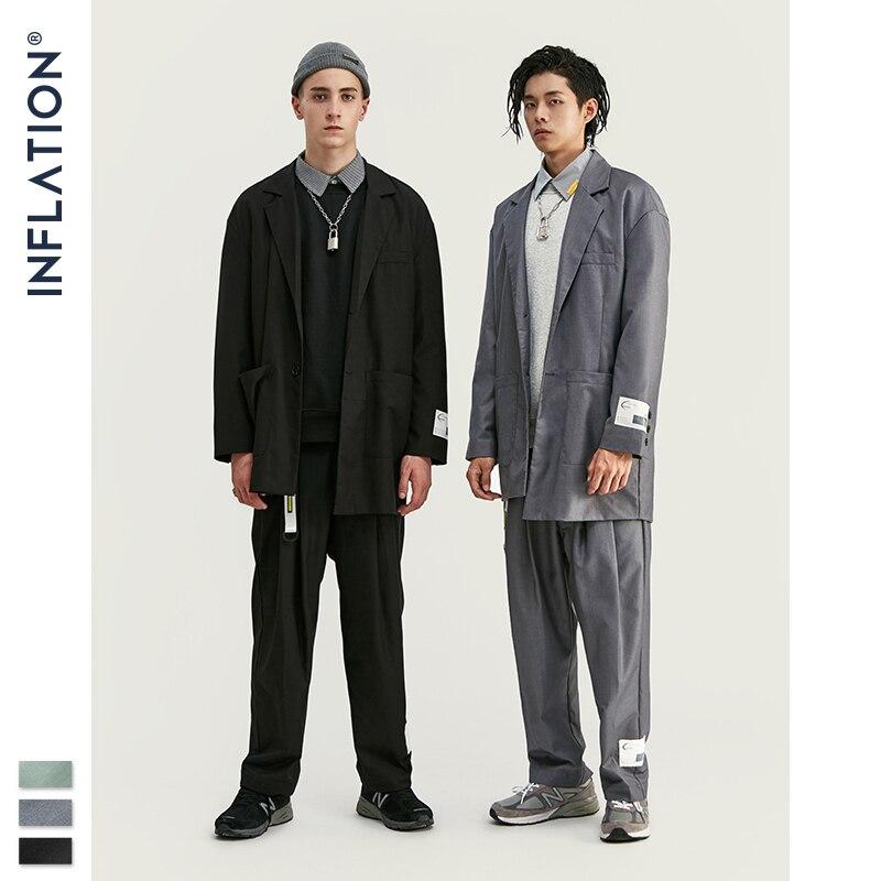 INFLATION  2020 Men Fashion Suit Hight Street Trendy Luxury Men Blazer High Quality Loose Fit Men Suit Autumn Men's Outfit