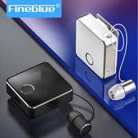Fineblue Earphone Bluetooth Headset Retractable Driver Sport Auriculares Business Wireless Noise Cancel Airmax