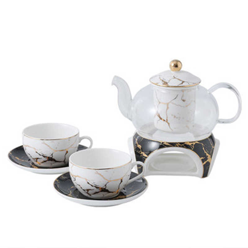 Household Heat Resistant Square Tea Cup Tray Coffee Cup Saucer Vintage Teaware