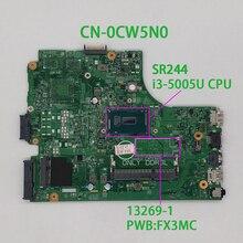 Dell Inspiron 3542 3442 CN 0CW5N0 0CW5N0 CW5N0 PWB:FX3MC REV.A00 SR244 i3 5005U DDR3L 노트북 마더 보드 메인 보드 노트북