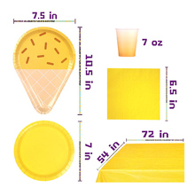 8pcs/set Disposable Paper Plates Cups Creative Home Tableware Supplies Kit Birthday Party New