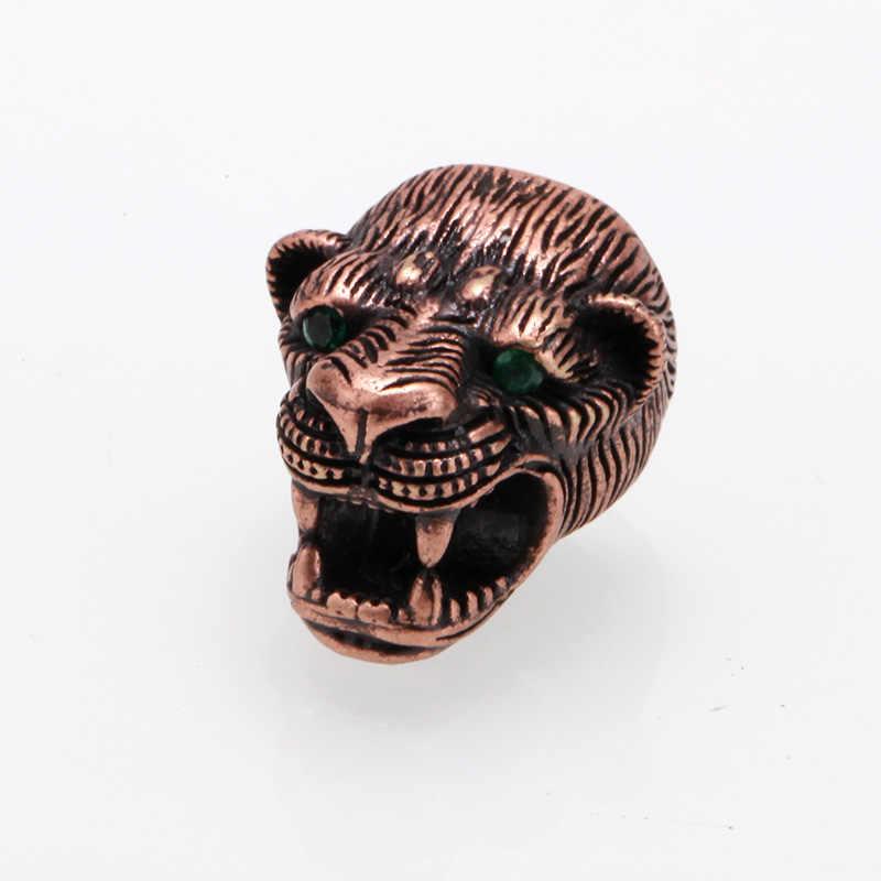 Leopard bead Micro Pave CZ Kraal Clear Zirconia Antieke Koperen kralen voor maken van sieraden diy Armband ketting paracord Kraal