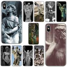 For LG G2 G3 G4 Mini G5 G6 G7 Q6 Q7 Q8 Q9 V10 V20 V30 X Power 2 3 Spirit Spiritual Dreamy Angel statue Print Silicone Phone Case(China)
