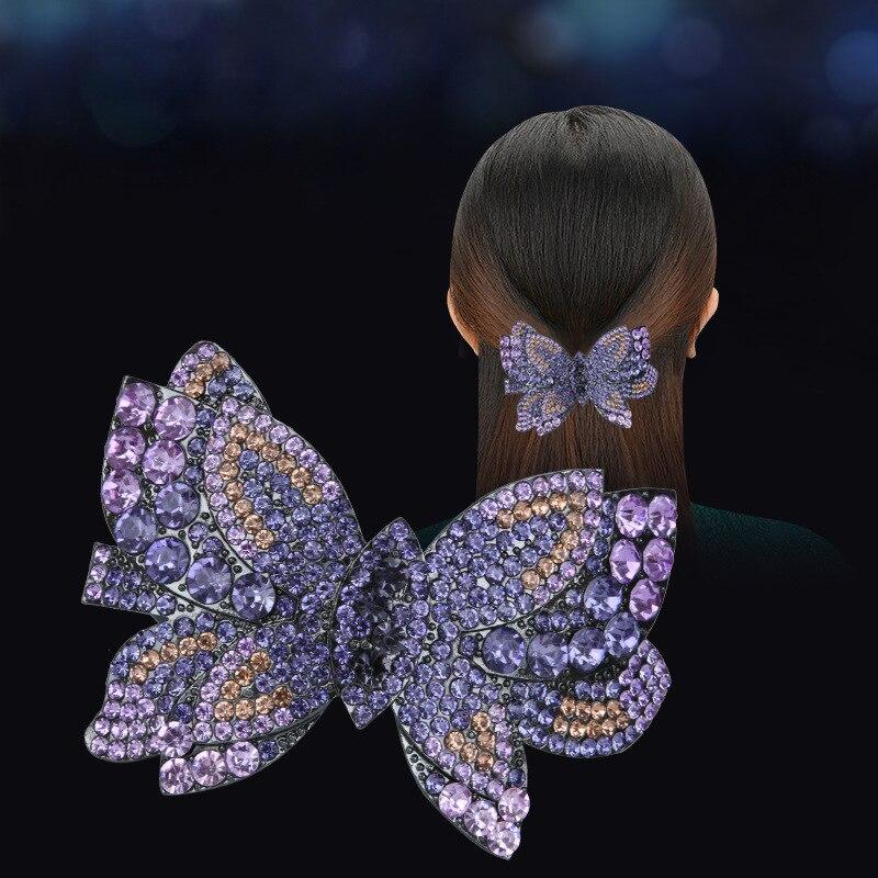 Супер фея, полная заколка-бабочка с бриллиантами, простая боковая заколка для волос, ювелирное изделие