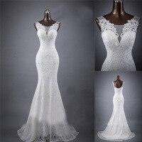 White Lace Mermaid Bridal Wedding Dress 2019 Elegant Simple Trailing Wedding Dress Large Size Dresses Size 18 Long Burgundy