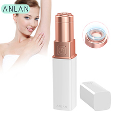 ANLAN Female Mini Electric Epilator Shaver Razor Women Female Face Body Epilator Bikini Shaver IPX6 Waterproof Lady Hair Remover цена и фото