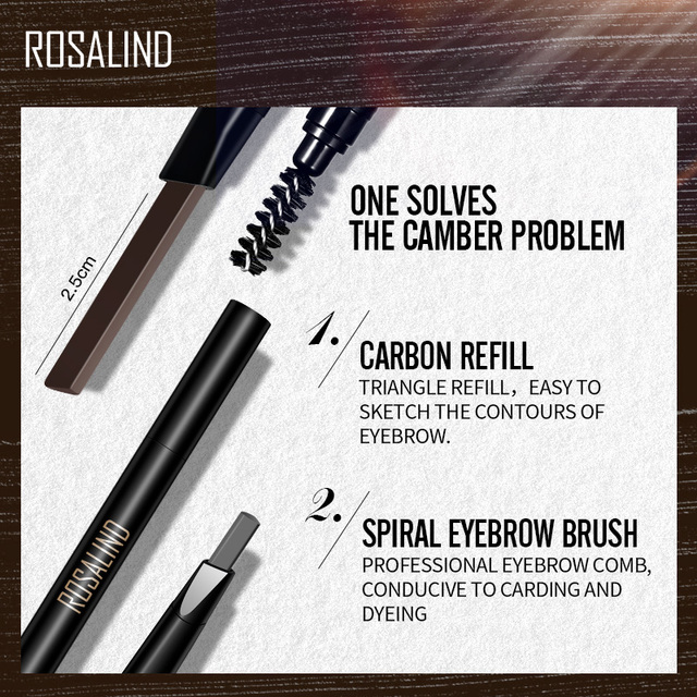 ROSALIND Eyebrow Shadows Pencil For Eyebrows Dye Marker Double End Eyebrow Pencil Tattoo Fine Sketch Brow Tint Cosmetic Stencil 3