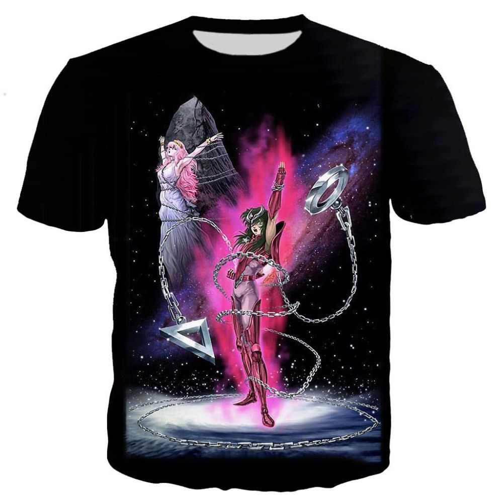 最新アニメ聖闘士星矢 Tシャツ男性/女性 3D 印刷 Tシャツ半袖原宿スタイル Tシャツストリートトップス