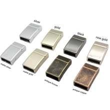 Para 10mm plana colar de couro fecho magnético pulseira que faz a extremidade 3 peças