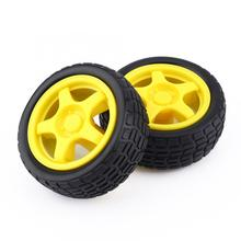 Tire-Wheel Robot-Chassis-Kit Electrical-Motor Arduino with DC 3-6v-Gear for DIY Car FTVOGUE
