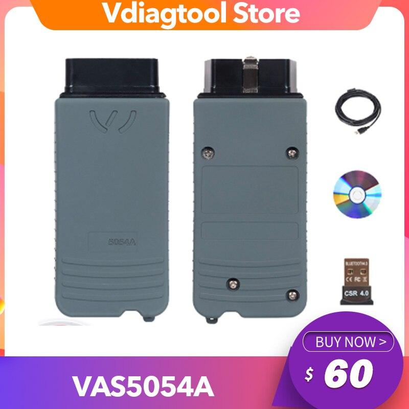 El mejor Chip VAS5054A OKI más nuevo ODIS 5.1.6 con Keygen VAS5054 Bluetooth VAS 5054A VAS 5054 compatible con protocolo UDS con caja de plástico