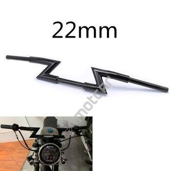 """Motorbike Extended Thickened 1/8"""" Diameter Lightning Steel Low Z-Bar Drag Handlebar Universal For Harley Kawasaki 22mm Diameter"""