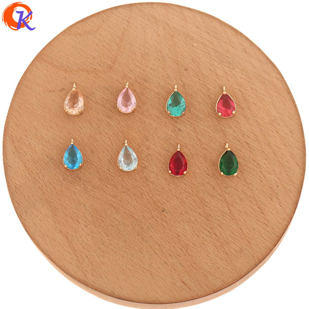 Cordial Design 100Pcs 6*11MM Jewelry Accessories/DIY Earrings Making/Pendant/Hand Made/Jewelry Findings Component/Crystal Charms