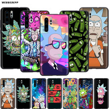 Webbedepp Ricky Morty Art per il Caso di Huawei P8 P9 P10 P20 P30 Lite Pro P Smart Z 2019 2019 Mini(China)