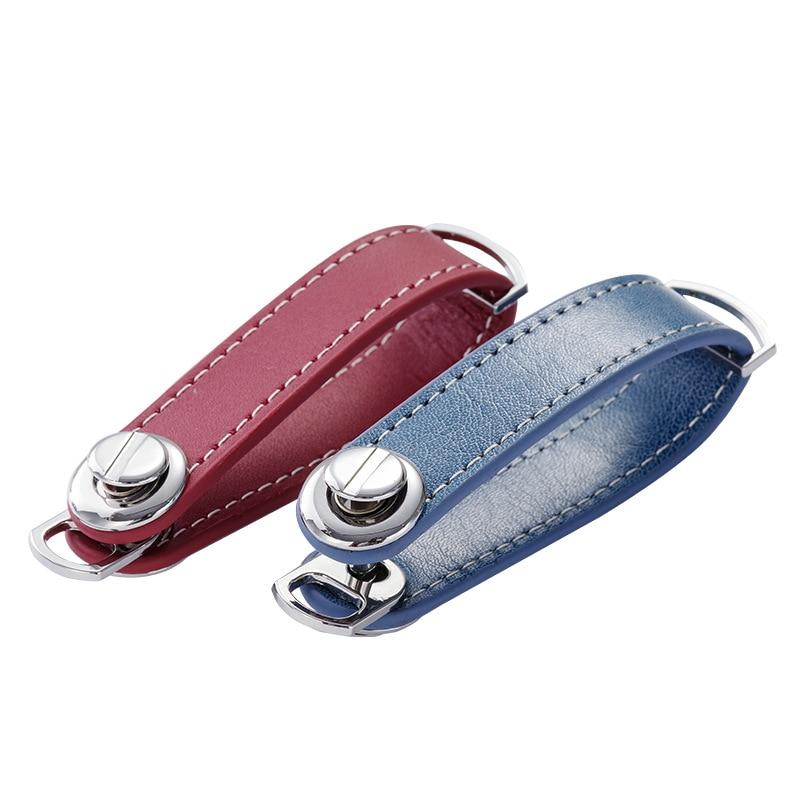 Leather Car Key Pouch Bag Case Wallet Key Holder Chain Key Wallet Collector Housekeeper EDC Pocket Key Organizer Smart Keychain