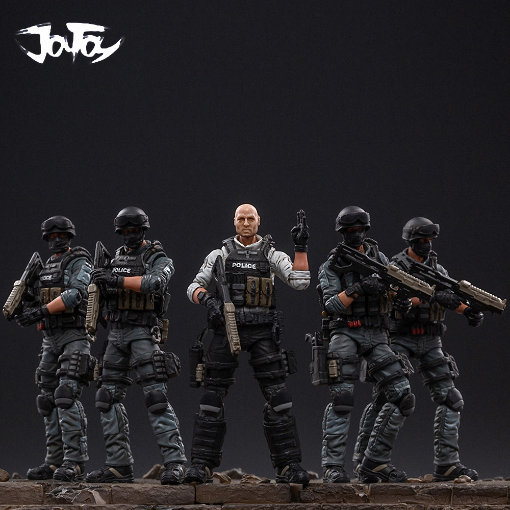 JOYTOY 1/18 Soldiers (5/pcs) Action Figures City Polic Soldier Birthday/Holiday Gift Model Kit Toys Free Shipping