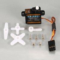 EMAX-engranaje de plástico Digital ES9051, 4,3g, Servo, 4,8 V, 0,8 kg, 0,09 segundos/60 grados, accesorios para avión de ala fija, FPV, 1 Uds.