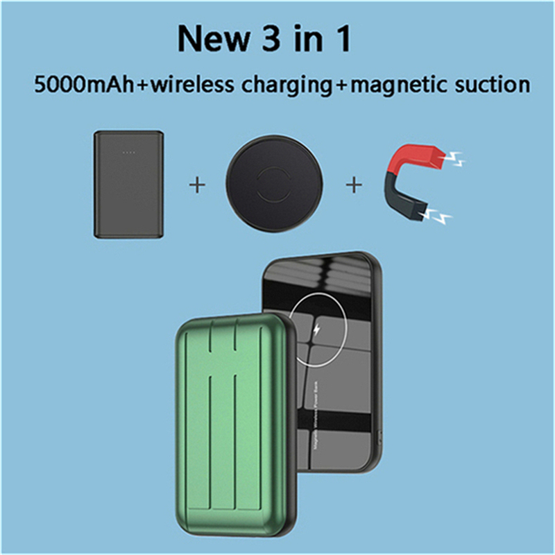 15W Magnetic phone Charger Wireless Charging treasure For Magsafe iphone 12 12pro 12ProMax 12mini Ultra-thin Magnet Power Bank 1
