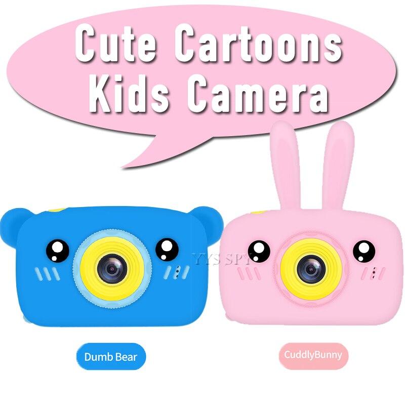 Милая мультяшная детская камера 2,0 дюймов Мини Цифровая видеокамера HD 1080P фотография Vlog детская игрушка подарок микро камера видеокамера