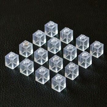 Transparent Clear Brick 1x1 Building Blocks MOC Parts DIY Toys Compatible All Brands 3005 Toys 230pcs/lot Gift