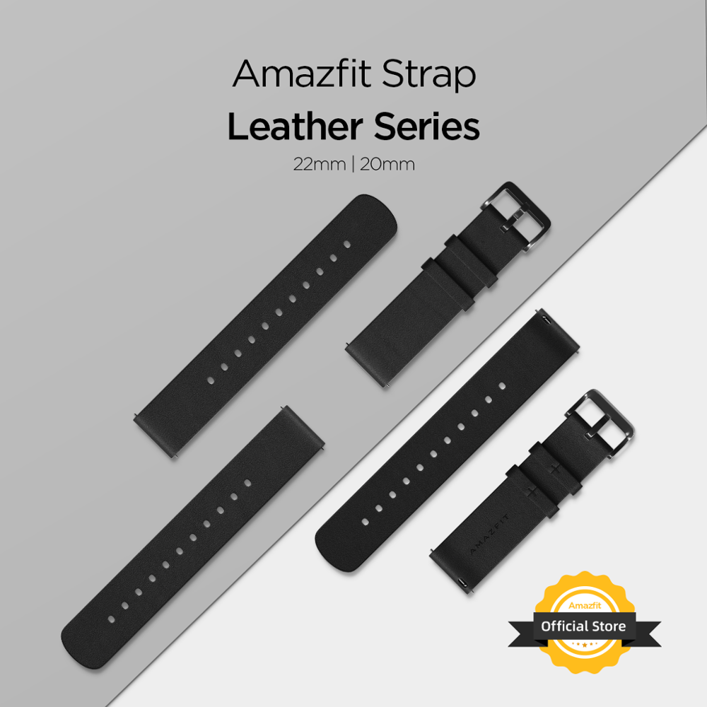 Amazfit Leather Strap 20mm/22mm Orignal Accessories For Smartwatch