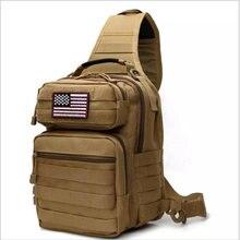 Тактическая Сумка слинг в стиле милитари компактный рюкзак на