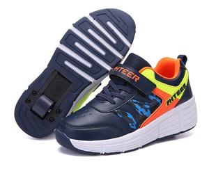 Image 3 - EUR 31 42 ילדי Junior רולר סקייט נעלי ילדים סניקרס עם אחד/שני 2020 בני בנות נעלי גלגלים למבוגרים מזדמנים נערי נעליים