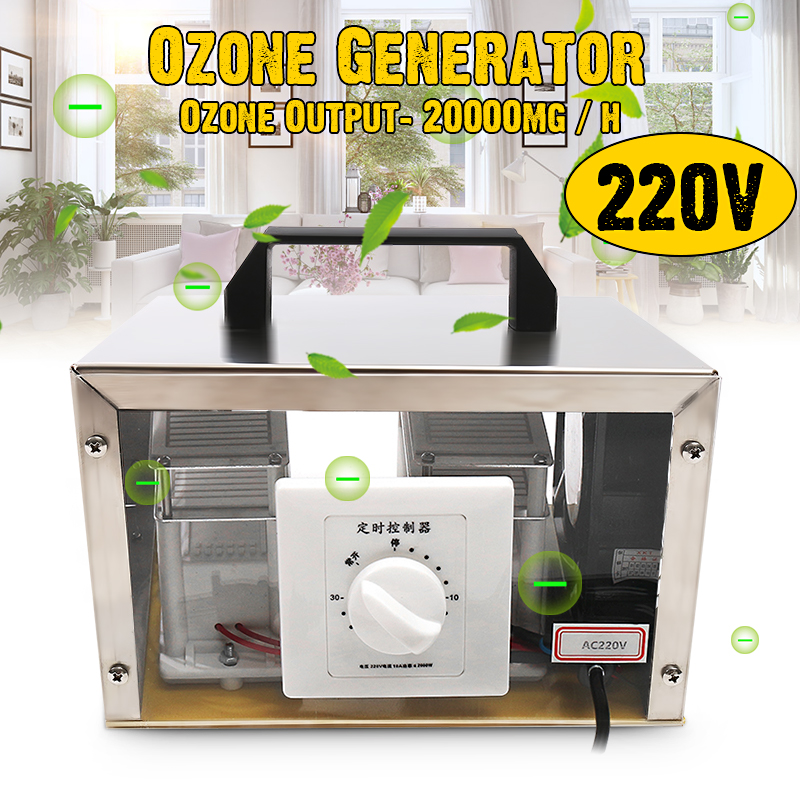 AC 220V Ozone Generator Ozone Machine Air Purifier Air cleaner Disinfection Sterilization Cleaning Formaldehyde Home Air Purifie