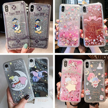 Creative cartoon liquid quicksand glitter mobile phone case for iPhone X XS XR XSMax 8 7 6 6S PluS drop protection cover