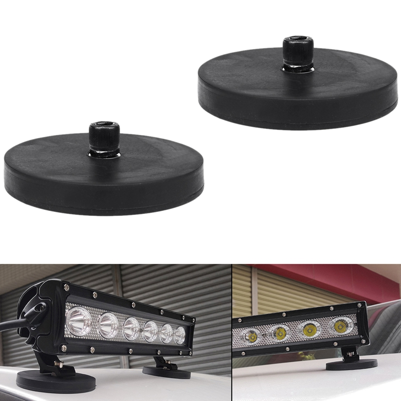 2Pcs Car Work Light Base Trucks Boat LED Light Bar Strong Magnet Base Mounting Bracket Holder W/ Pad
