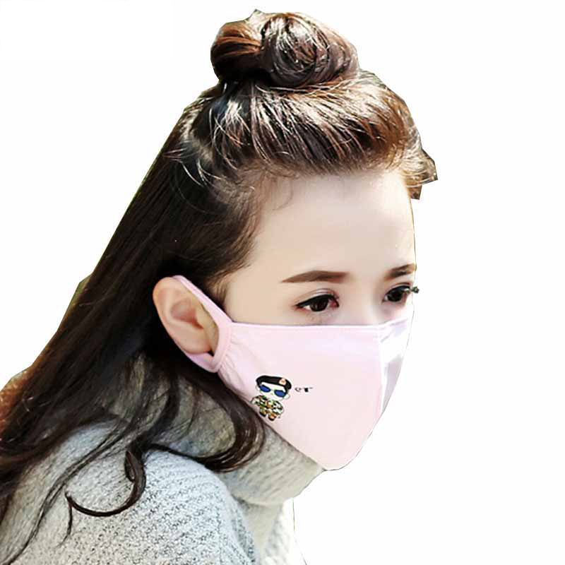 1Pcs Korea Unisex Dust Allergy Flu Masks Washable Breath Healthy Safety Respirator Face Mouth Masks For Gilrs And Woman Kids