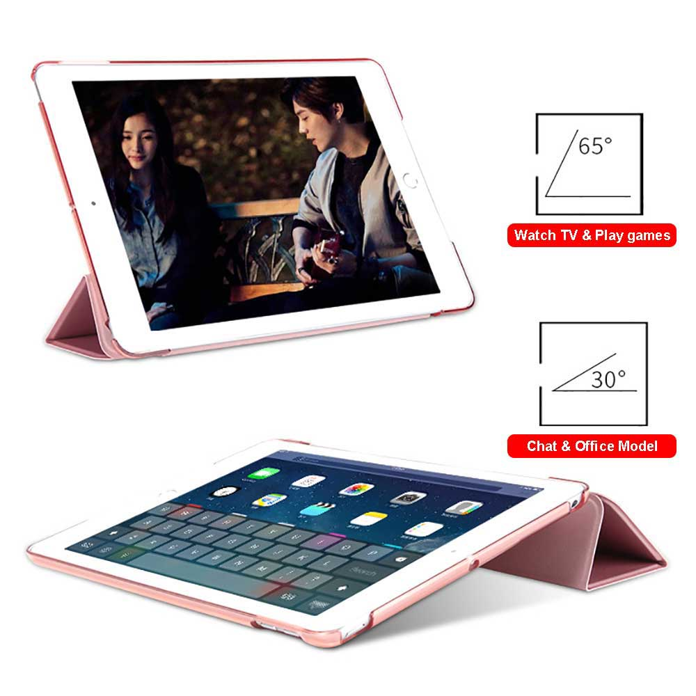 For iPad 9.7 2018 2017 Case Magnetic Pu Leather Stand Smart Cover for iPad 5 6 Air 1 2 5th 6th Generation With Stylus Pen+Film Pakistan