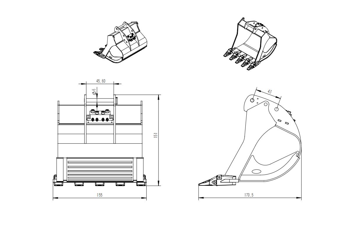 1/14 RC Hydraulic Excavator Full-Metal RTR Kabolite K970 3
