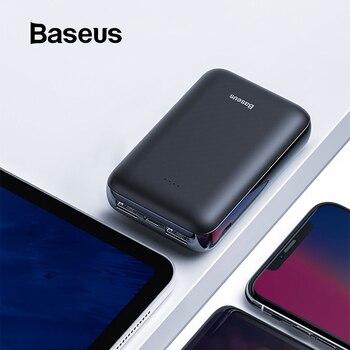 Baseus Mini 10000mAh Power Bank For Xiaomi Huawei Samsung iPhone Powerbank Portable Dual USB External Battery Pack Charging Bank