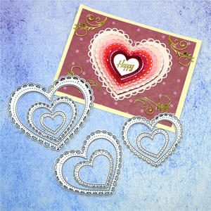 Naifumodo Cutting-Dies Nested Crafts Heart-Stencil Stitched Scrapbooking-Paper/photo-Cards