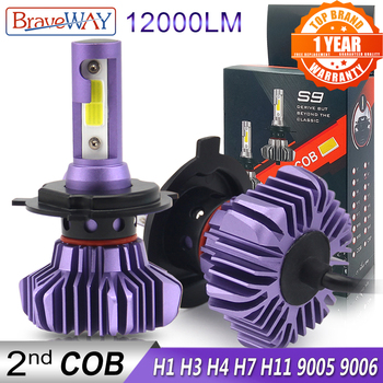 BraveWay Led Headlight for Auto Led Ice Bulb Car Led Light H4 H7 H11 9005 9006 HB3 BH4 H1 Automobile Diode Lamps H7 LED Bulb H4 1