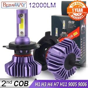 Image 1 - Braveway ledオートledアイス電球カーledライトH4 H7 H11 9005 9006 HB3 BH4 H1 自動車ダイオードランプH7 led電球H4