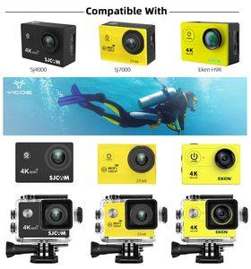 Image 3 - 30 メートル防水ケース eken H9 Sj4000 wifi 4 18k アクションスポーツカメラダイビングボックスプロテクターアクセサリーキット