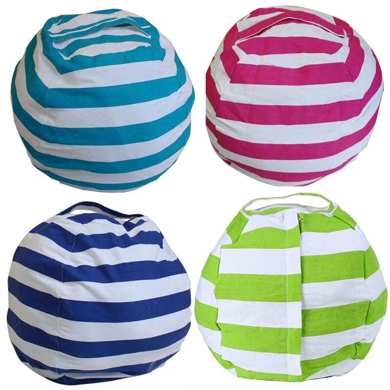 Brinquedos animais de armazenamento saco de feijão recheado crianças crianças brinquedo de pelúcia organizador multi purpose stuffferable grande capacidade saco de lona|Sacos de armazenamento|   -
