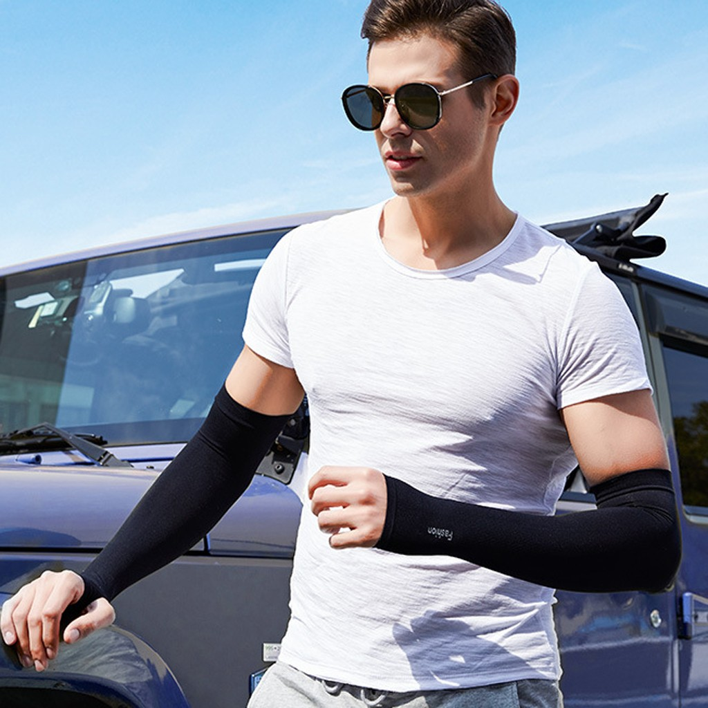 Unisex Breathable Uv Protection Running Arm Sleeves Fitness Basketball Elbow Pad Sport Cycling Outdoor Arm Warmers #W3