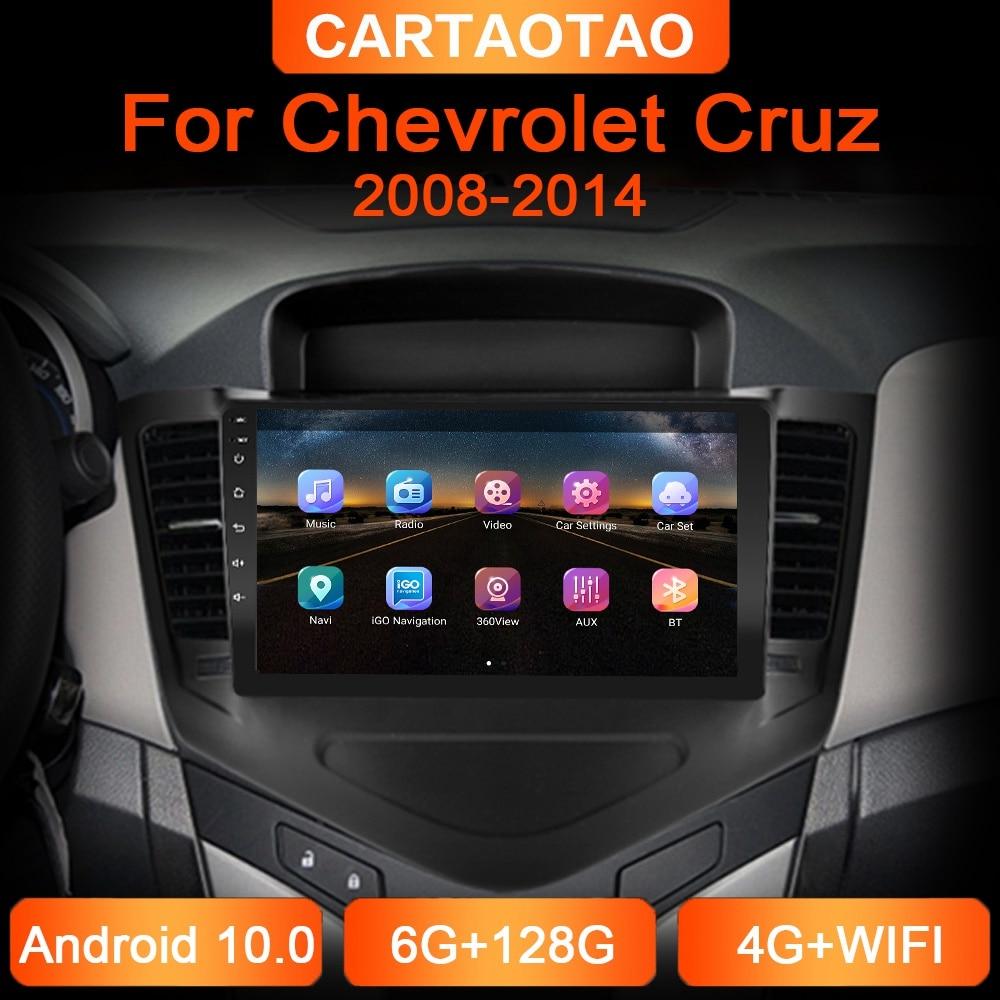 6g + 128g 2din android reprodutor de dvd do carro para chevrolet cruze 2008 2009-2014 rádio do carro navegação gps wifi rds dsp multimídia player