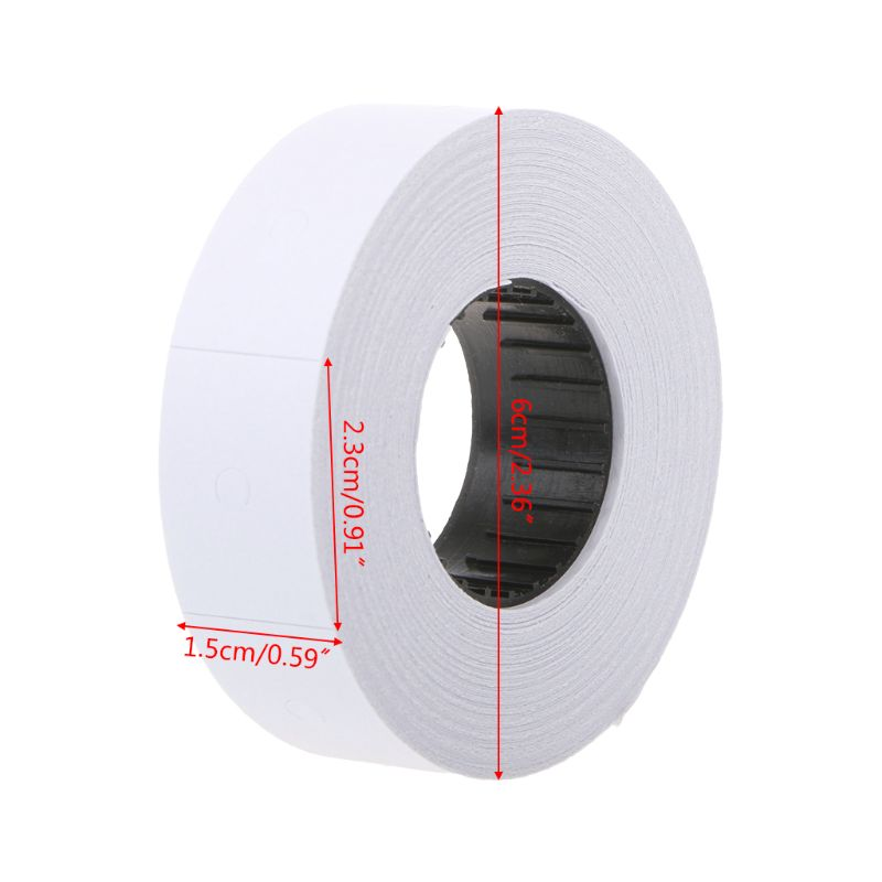 10 Rolls Price Label Paper Refill Tag Mark Sticker Double Row For MX-6600 Labeller Gun W91A