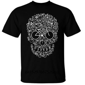 Camiseta de verano para hombre, camiseta informal con estampado de calavera para ciclismo o motociclista, novedad de verano para hombre